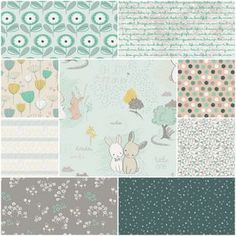 Littlest Fat Quarter Bundle in Into the Pine Woods (fabric to make stuff)