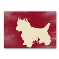 Yorkshire Terrier's Silhouette fine art print by ialbert