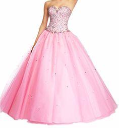 Ikerenwedding Women's Net Beading Sweetheart Quinceanera Dress Formal Ball Gown Pink US02 Ikerenwedding http://www.amazon.com/dp/B00YWEZSA2/ref=cm_sw_r_pi_dp_1VL5vb0CWT9E5