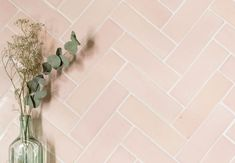 Here's some beautiful Pink Metro tiles to brighten your day! They are handmade by Hannah in the ceramics studio at Cotes Mill 💕 Pink Bathroom Tiles, Pink Tiles, Blush Bathroom, Tile Bathrooms, Bathroom Black, Upstairs Bathrooms, Small Bathroom, Master Bathroom, Pink Laundry Rooms