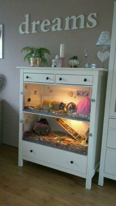What a great idea for an old dresser.