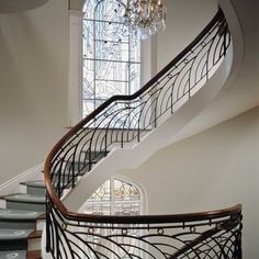 Wrought Iron Banister Railings Design, Pictures, Remodel, Decor and Ideas - page 2