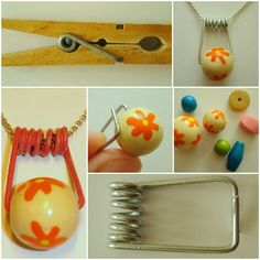 Creative Ways of Reusing Clothespins Accessories DIY Upcycled Crafts, Diy And Crafts, Crafts For Kids, Beaded Jewelry, Handmade Jewelry, Crystal Jewelry, Silver Jewelry, Ideias Diy, Craft Show Ideas