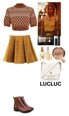 """""""Outfit LUCLUC"""" by eliza-redkina ❤ liked on Polyvore featuring River Island, Maybelline, NARS Cosmetics, Flidais Parfumerie, H&M and Tory Burch"""