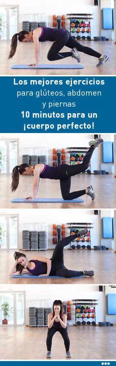 Los mejores ejercicios para glúteos, abdomen y piernas. 10 minutos para un ¡cuerpo perfecto!