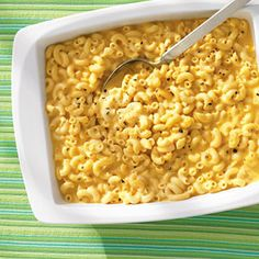 Put away the saucepan! This easy macaroni and cheese #recipe cooks completely in the oven! Simply stir it a few times during baking, add the cheese just before serving, and the results are just as creamy and cheesy as the original!