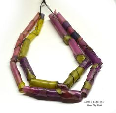 Polymer Clay Color Tube Necklace Polymer Clay, Tube, Character, Color, Accessories, Art, Craft Art, Colour, Kunst