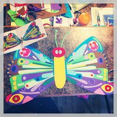 He was a beautiful butterfly! ;), via Flickr. Very Hungry Caterpillar birthday party decoration