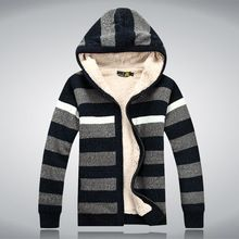 Luxury Hooded Fashion Imported Clothing 2016 Striped Design Cardigan Men Cotton Wool Mens Knitted Sweaters Christmas Sweater Man(China (Mainland))