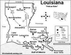 Louisiana State outline Coloring Page I copy the image and paste