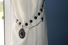 A Pair of Hand Beaded Curtain Tiebacks in by MonicasHobbyShop, $40.00