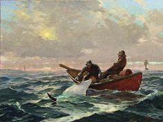 """""""Fishing Halibut off the coast of Newfoundland"""": Jeff Weaver - American 1953 - Nautical Painting, Boat Painting, Nautical Art, Figure Painting, Nautical Pictures, Sea Pictures, Halibut Fishing, Old Sailing Ships, Classical Realism"""
