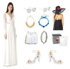 """""""Dress it up...."""" by camry-brynn ❤ liked on Polyvore featuring J. Mendel, Badgley Mischka, Gas Bijoux, Kate Spade, Rosantica, Le Specs, Linda Farrow, Eugenia Kim, celebrity and real"""