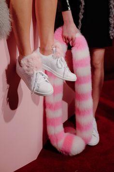 faux fur appliqués / fashion diy / Charlotte Simone Autumn/Winter 2016
