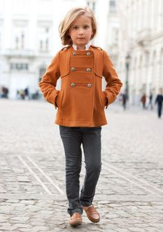 rust colored coat for girls