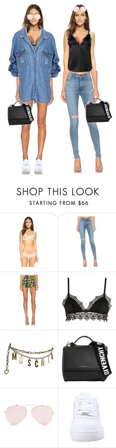 """""""Untitled #2180"""" by oliviaaroachh ❤ liked on Polyvore featuring Eberjey, Hudson Jeans, Sam&Lavi, Ermanno Scervino Lingerie, Moschino, Givenchy, NIKE and 3.1 Phillip Lim"""