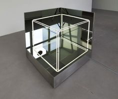 Mirror Neon Cube by Jeppe Hein. Jeppe Hein is an artist based in Berlin and… Light Tunnel, Art Cube, Light Art Installation, Infinity Mirror, Cube Design, Neon Lighting, Lighting Ideas, Box Art, Contemporary Artists