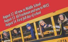 MVCS start dates