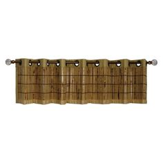 Versailles Tortoise Shell Bamboo Grommet Top Valance - 72W x 12H in. - BP037212-