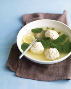 Chicken-and-Ricotta Meatball soup; Low-carb, love it!