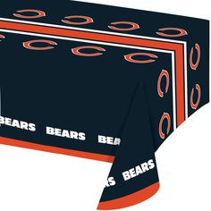 Descriptions NFL 54 x 102 Plastic Tablecover All Over Print Chicago Bears/Case of 12 - Design : Chicago Bear - Size : 54 x 108 inches Features - Material Plastic - Chicago Bears - Size 54 x 102 inches
