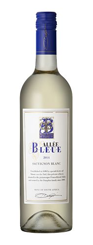 Allée Bleue Sauvignon Blanc 2014  Intense fruit aromas The French Huguenots arrived in the Cape in the late 1600s and settled in what became known as Franschhoek, or 'French Corner'. The Huguenots planted vines as the terrior was perfectly suited to the production of wine. South African Wine, Chenin Blanc, Wine Photography, Wine Online, Wine List, Sauvignon Blanc, Wines, Vodka Bottle, Beverages