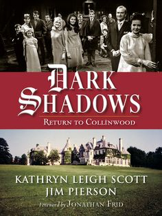 Return To Dark Shadows is by Kathryn Leigh Scott and Jim Pierson. Kathryn Leigh Scott was the actress who played the roles of Maggie Evens, Josette DuPre, Rachel Drummond and Lady Hampshire (Kitty Soames) on Dark Shadows. She has also written several other books about Dark Shadows as well as other books. This book contains lots of insight into the original series and some insight into Tim Burton's version of Dark Shadows along with a forward by Jonathan Frid (Barnabas Collins). So enjoy!