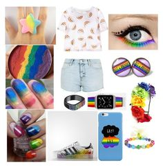 """""""lgbt last summer set"""" by pastelmintysuga ❤ liked on Polyvore featuring Topshop, Chicnova Fashion, adidas, AS29 and Casetify"""