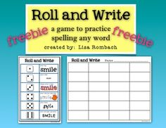 Roll and Write a game to practice spelling any word! Use this game to practice spelling ANY word or word list. FREE