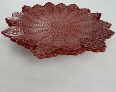 Radiant Beauty Bowl - RED [Radiant Beauty-Red] - $124.00 : Maggie Weldon, Lace Pottery Ornamental Bowls