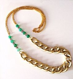 Long Chunky Gold Necklace