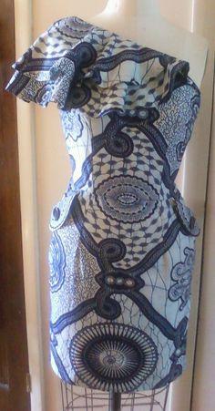 One Shoulder Ruffle Dress. #Africanfashion #AfricanClothing #Africanprints #Ethnicprints #Africangirls #africanTradition #BeautifulAfricanGirls #AfricanStyle #AfricanBeads #Gele #Kente #Ankara #Nigerianfashion #Ghanaianfashion #Kenyanfashion #Burundifashion #senegalesefashion #Swahilifashion DK