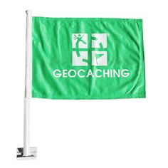Whether you are headed to you next Mega event or simply out caching with friends you will be proud to have this flag displayed on your car.  $9.99 @ Shop Geocaching