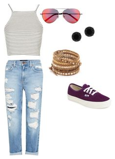 """Stripes on Rip."" by trendyari ❤ liked on Polyvore"