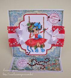 Luciana Yaros Scrapbooking: Cartão para Anne Caroline