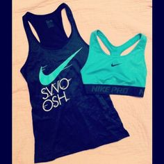 It's Nike AND TEAL!!! Oh if only I could afford 30 dollar tank tops and 50 dollar sports bras.. *sigh*