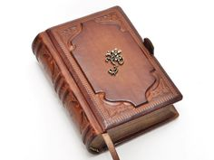 Small brown leather journal vintage style 4x5.7 by dragosh on Etsy, $105.00