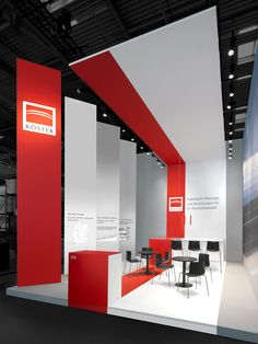 Exhibition design Building construction and civil engineering - multifaceted, individual and with a high quality approach - that is the core of Köster. With our trade fair design for the leading construction industry supplier we reflect these virtues. Exhibition Stand Design, Trade Show Booth Design, Exhibition Stall, Display Design, Store Design, Corporate Design, Retail Design, Entrepreneur En Construction, Exibition Design
