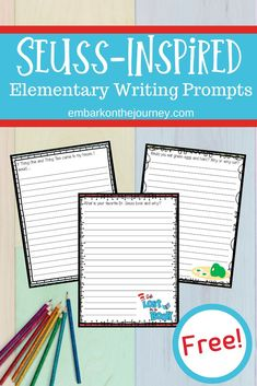 Whether you're celebrating Dr. Seuss's birthday or you're looking for some fun writing activities, don't miss these printable Dr Seuss Writing Prompts! 5th Grade Writing Prompts, Writing Prompts For Kids, Cool Writing, Kids Writing, Writing Skills, Fun Writing Activities, Dr Seuss Activities, Writing Worksheets, Writing Resources