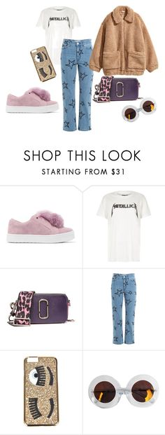 """TEDDY JACKET AND SPRING COLORS"" by soffansundin on Polyvore featuring Sam Edelman, River Island, Marc Jacobs, Être Cécile, Chiara Ferragni, Karen Walker and H&M"
