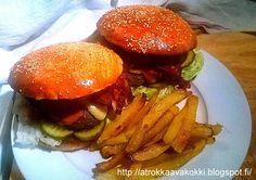 @rokkaavakokki: Elvis-burgerit, ranut ja paprikamajoneesi