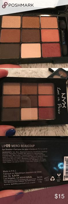 NYX Love in Paris Merci Beaucoup Palette NYX Love in Paris Merci Beaucoup Palette. New never used. 100% authentic. NYX Makeup Eyeshadow