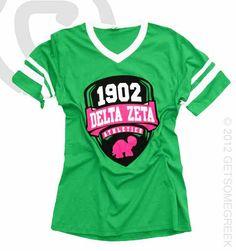 Delta Zeta Playing The Field Sports Shirt