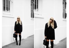 Hoodie & Stretchy Over Knee. Street Look, Victoria, Normcore, Hoodies, Outline, Sweaters, Dresses, Ideas, Fashion
