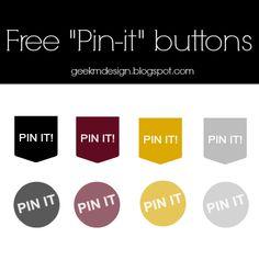 "FREE ""PIN-IT!"" BUTTONS #1"