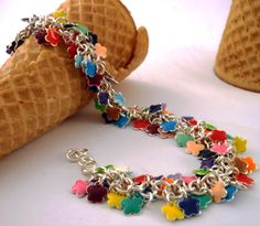 120 Colorful Flower Drops - The Perfect Quantity to Make a Bracelet or 2 Pairs of Earrings - Small 6mm
