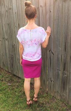 Floral top & pencil skirt