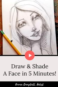 Have you always wanted to draw a whimsical female face? It's easier than you t. Drawing Journal, Drawing Lessons, Drawing Skills, Copic Drawings, Easy Drawings, How To Shade, Eye Sketch, Online Art Classes, Mermaid Drawings