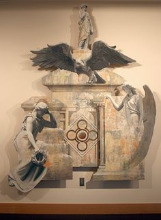 Namon Bills- Angels in the Architecture (2010-2011) mixed media on panel