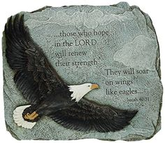 Joseph Studio 60873 Soaring Eagle Garden Stone with Verse They Will Soar on Wings Like Eagles Isaiah 4031 11Inch -- Click image to review more details.